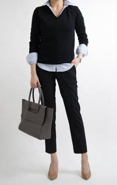 trendy business casual work outfit for women 2019 - page 16 - Adrianna Torres Business Casual Sweater, Business Casual Womens Fashion, Business Casual Dresses, Casual Sweaters, Business Fashion, Business Attire, Winter Sweaters, Work Dresses For Women, Clothes For Women