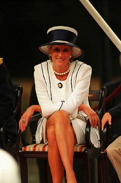 HRH Diana Princess of Wales seen at the VJ Day Celebrations on 19 Aug 1995