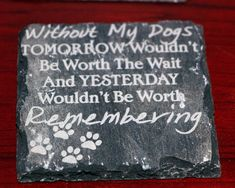 """Slate Tile Coaster Set with """"Crazy Dog Lady"""", """"Crazy Dog Guy"""", """"Dog Lessons for People"""", """"Without My Dog"""". Photo Engraving, Laser Engraving, Dog Nose Print, Slate Coasters, Crazy Dog Lady, Heart Ornament, Photo On Wood, Small Boxes, Custom Photo"""