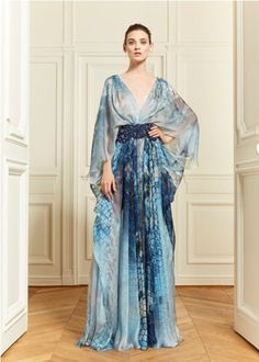 Something Blue: From the Zuhair Murad Resort 2014 collection. My my, beach #wedding perfect!