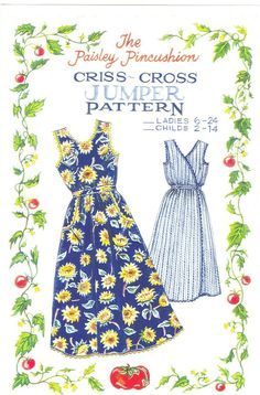 CrissCross Jumper pattern LADIES sizes   by by paisleypincushion, $9.50