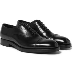 Black lace-up Oxfords
