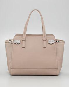 Verve Zipper Tote Bag, Almond by Salvatore Ferragamo at Neiman Marcus.