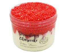 Strawberry Cheesecake is a beautiful avalanche slime that turns into a butter floam after being mixed. This slime starts Jelly Slime, Slimy Slime, Food Slime, Strawberry Sauce, Strawberry Cheesecake, Cheesecake Recipes, Java Chip, Slime Names, Avalanche Slime