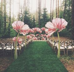 Alice in wonderland wedding ceremony styling