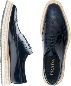 PRADA : Wing Tip Shoes (Black)