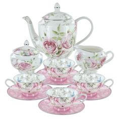 China Tea Sets | Home > Beau Rose Bone China Tea Set