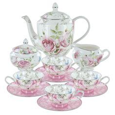 China Tea Sets | Home > Beau Rose Bone China Tea Set