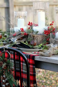 #ChristmasEveEve with a classic open house and modern rustic Xmas table decor #YearInPhotos #ItsTimeForChristmas for #HappyHolidays