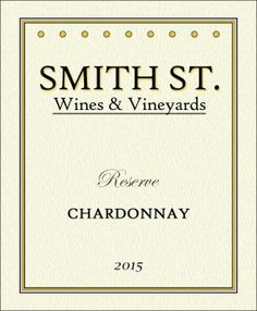 Smith Street custom wine label