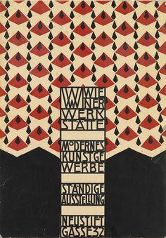 Exhibition poster by Josef Hoffmann, Wiener Werkstätte.
