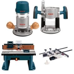 Bosch 12 Amp Plunge and Fixed Base Variable Speed Router Kit with Benchtop Router Table and Deluxe Router Edge Guide - Products Lists of Tools and Hardware