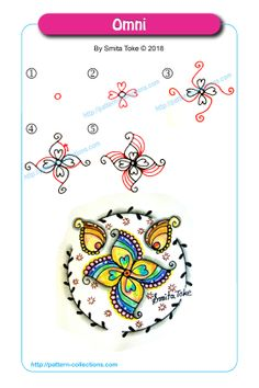 Flower Drawing Omni by Smita Toke - Visit the post for more. Zentangle Drawings, Doodles Zentangles, Doodle Drawings, Doodle Art, Tangle Doodle, Tangle Art, You Draw, Learn To Draw, Learn Drawing