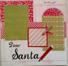 Christmas List  Santa  Wishlist  premade scrapbook by ohioscrapper, $15.00