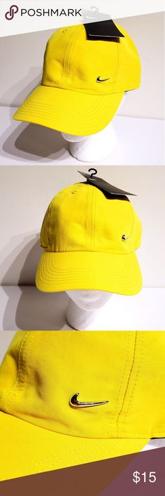 ffcf185ac58 Nike Youth Kids Metal Swoosh Strapback Hat Yellow Nike Youth Metal Swoosh  Snapback Cap Hat - 405043 - Yellow 713 - NWT The Nike Metal Swoosh Kids  ...