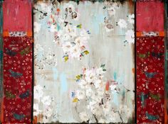 Kathe Fraga Art, www.kathefraga.com Kathe's paintings are inspired by the romance of vintage French wallpapers and Chinoiserie with a modern twist. 36x48 on frescoed panel.