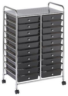 20 drawer rolling organizer cart, houzz.com