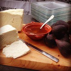 For my Urban Winery dinner: b'tiful local ricotta  panela cheeses, acacia honey, fresh figs