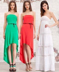 Vestidos de Stradivarius primavera verano 2012 largos Strapless Dress Formal, Formal Dresses, Hair Beauty, Future, Womens Fashion, Closet, Outfits, Templates, Summer Dresses