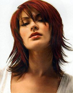 red and brown layered hair - Google Search