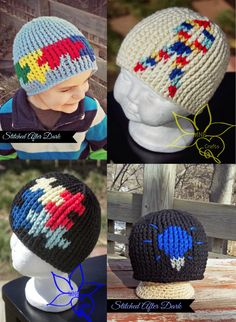 MNE Crafts: Autism Awareness Beanies - 12 Patterns