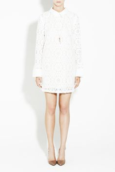 Lace Collar Dress $99