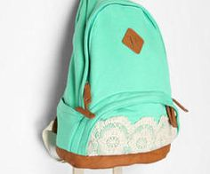 teal backpack with lace...... Me want!!! B)