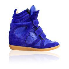 ISABEL MARANT Bekett Basket Bleu ($745) found on Polyvore