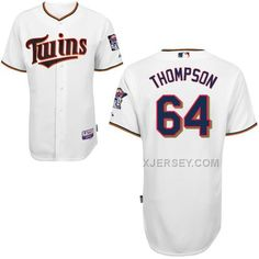 http://www.xjersey.com/twins-64-thompson-white-cool-base-jerseys.html TWINS 64 THOMPSON WHITE COOL BASE JERSEYS Only 40.68€ , Free Shipping!