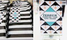 Penguin Party Printables- cute labels