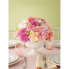 Casamento feito à mão: Centro de mesa {flores de papel}