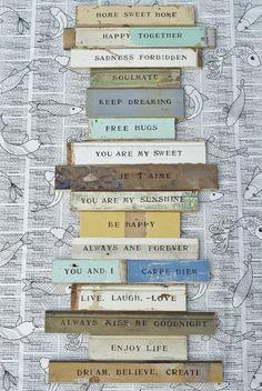 nestprettythings:    wood & word signs by wood & wool stool on Flickr.