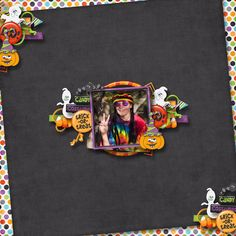 lots of color against a black background Scrapbooking Ideas, Scrapbook Pages, Digital Scrapbooking, Halloween Scrapbook, Holidays Halloween, Altered Art, Black Backgrounds, Paper Crafts, Creative