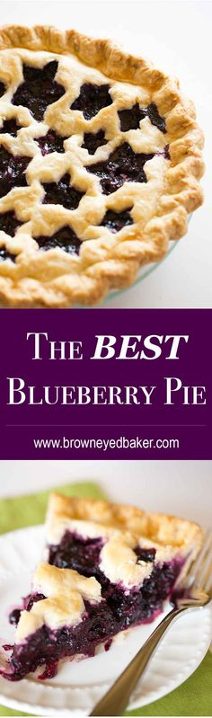 This is the BEST Blueberry Pie recipe you'll ever make. It's easy, uses a homemade blueberry pie filling and tastes amazing! Best Blueberry Pie Recipe, Homemade Blueberry Pie, Blueberry Recipes, Fresh Blueberry Pie, Blueberry Cake, Coconut Dessert, Pie Dessert, Dessert Recipes, Cookies Et Biscuits