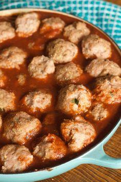 Baked Turkey Meatballs | reluctantentertainer.com
