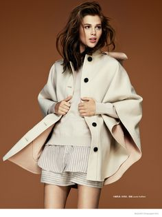 anais poliout 70s fashion07 Anais Pouliot Impresses in 70s Styles for Bazaar China by Jason Kim