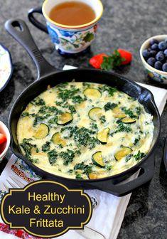 Kale & Zucchini Frittata - The Kitchen Magpie #recipes #healthy #kale