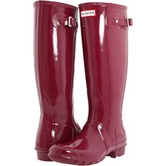 """hunter rain boots - high gloss """"very berry"""" so pretty - I saw them in person recently and they are amazing!"""
