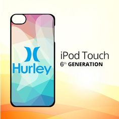 hurley logo Z3341 iPod Touch 6 Case