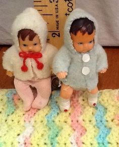 Pair of Vintage Shackman baby dolls boy & girl Rubber East Germany #Shackman