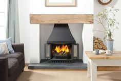 Dovre 1800 fire is suitable for use in smaller inglenooks or as a built in fireplace.