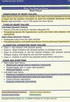 what you need to know- heart failure Nursing School Tips, Nursing Tips, Nursing Notes, Pathophysiology Nursing, Pharmacology, Heart Failure Treatment, Nursing Cheat Sheet, Family Nurse Practitioner, Cardiac Nursing