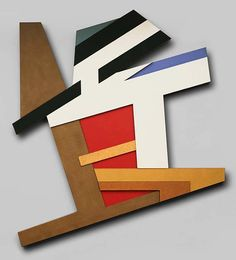 Frank Stella - Pilica II, Mixed media assemblage on wood,	110 3/4 x 94 3/4 in.