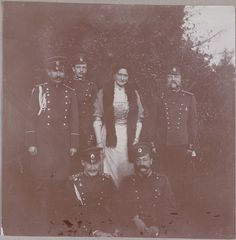 Empress Alexandra with Officers