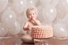 Bebê lindo no smash the cake