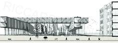 University campus in Győr - architectonic scenario