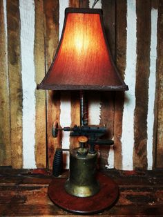 One-of-a-kind Vintage Blow Torch Upcycled by UrsMineNours on Etsy