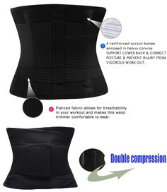 12ea38a40b KOOCHY Womens Waist Trainer Belt Waist Cincher Trimmer Slimming Body Shaper  Belt Sport Girdle Belt for