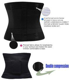 3f87cada343 Women s Waist Trainer Waist Cincher Trimmer Girdle Belt For Weight Loss