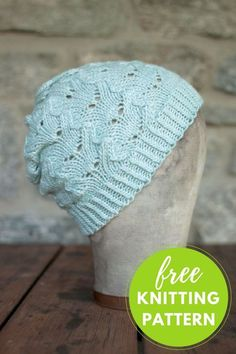 Helado Lace Hat Free Knitting Pattern One Skein Project! Easy Knitting  Patterns 92841f1c8e26